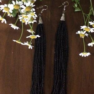 Jewelry - Karina Bead Tassel Drop Earrings